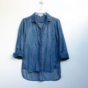 Cloth & Stone Chambray Denim Shirt Blouse XS